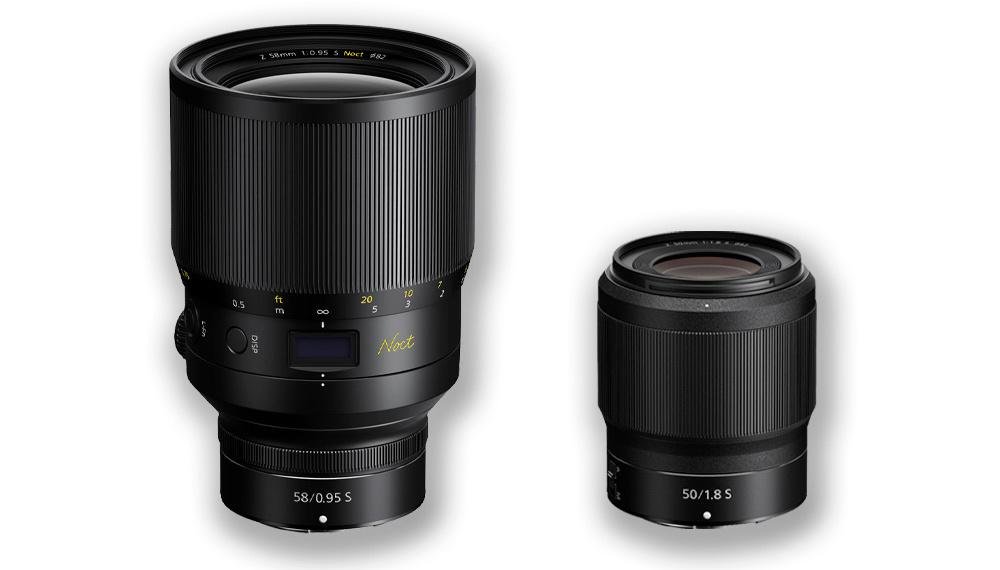 The NIKKOR Z 58mm f/0.95 S Noct and the NIKKOR Z 50mm f/1.8 S
