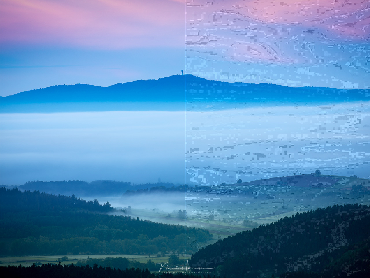 This is the difference between the original JPEG from the raw file, and the file that has been saved for ninety nine times. It doesn't matter if you perform any post-processing or not, the result will be the same. Unless you post-processing will degrade t