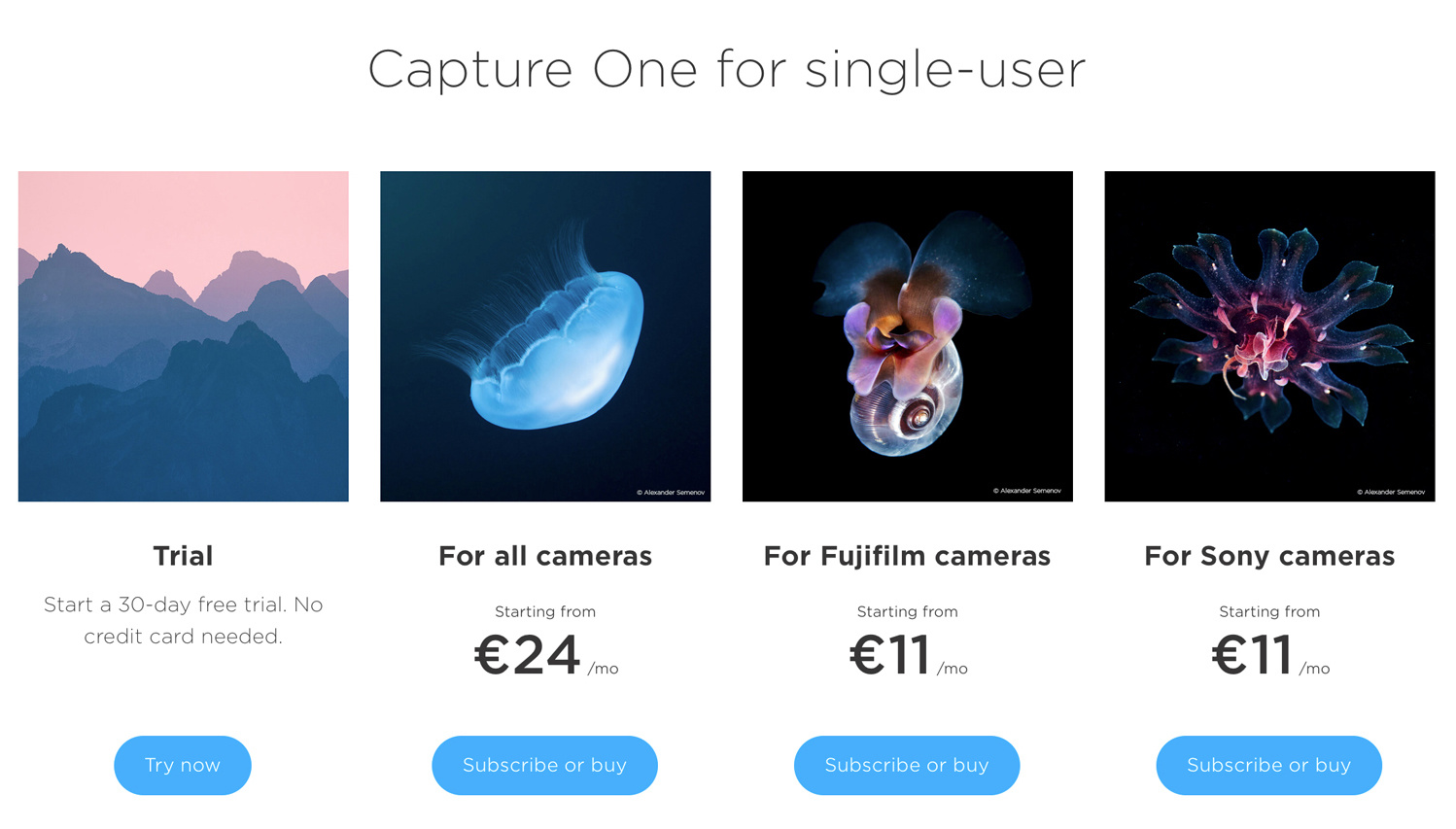 Capture One pricing Europe