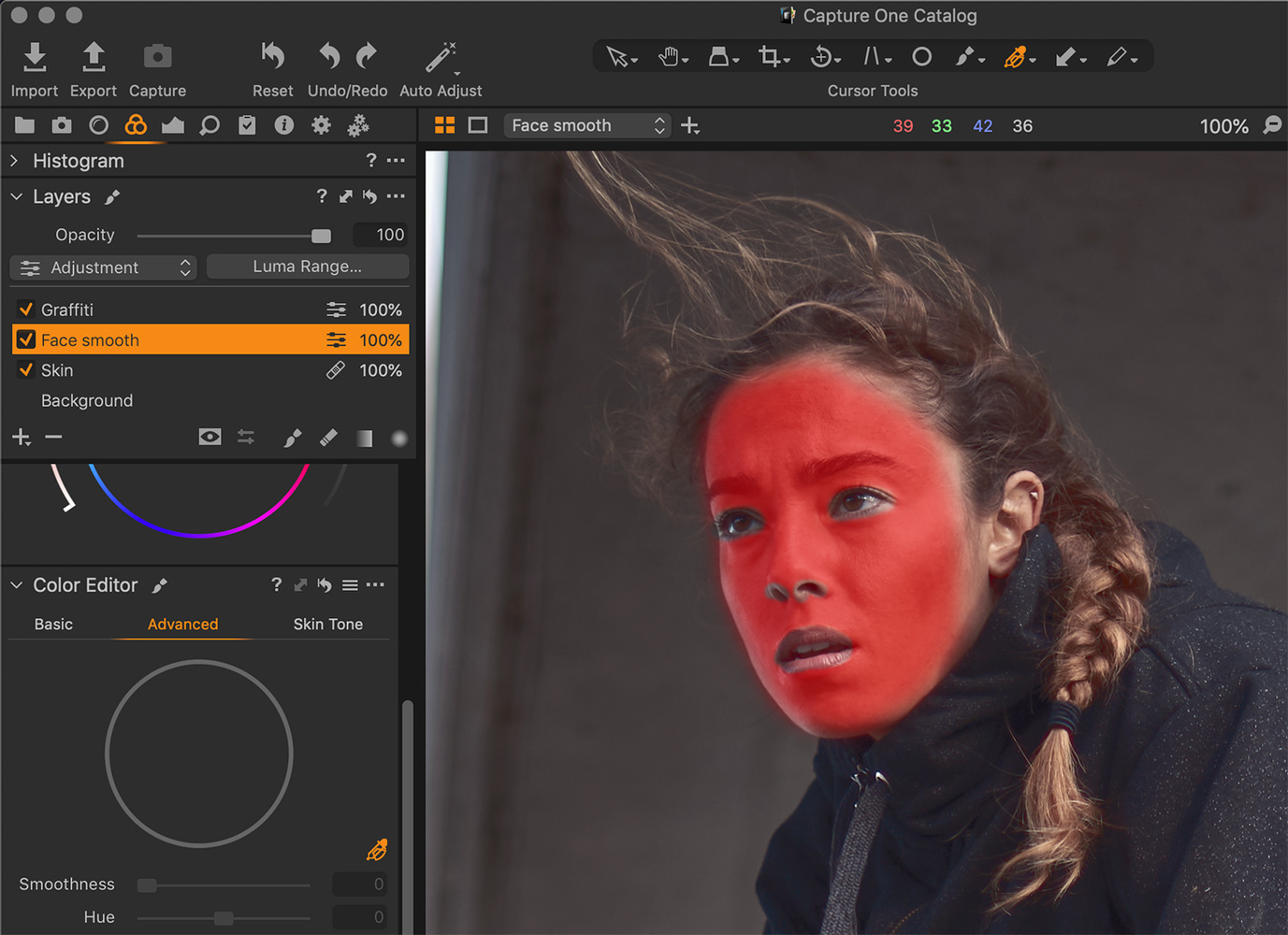 Capture One layer mask