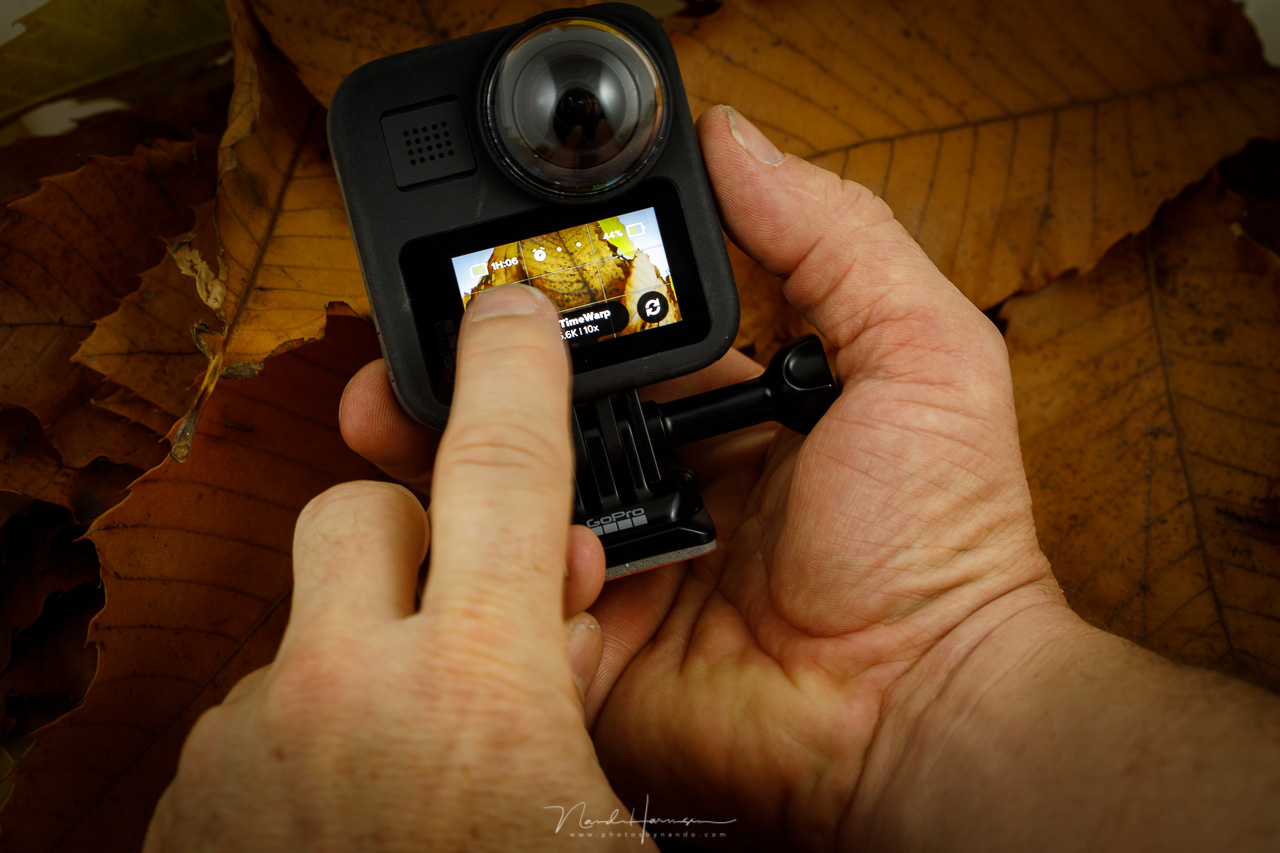 You can setup the GoPro MAX easily through the touchscreen. It is small, and it can be difficults at some time.