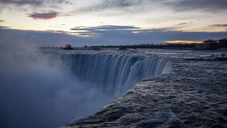 A short exposure of Niagara Falls.