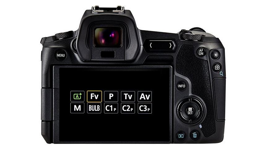 Canon EOS R Fv mode