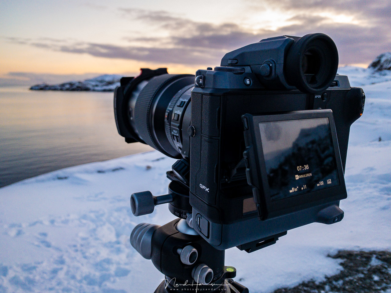 A behind the scene shot, Shooting with the Fujifilm GFX100 and Haida filters turned out to be lots of fun.