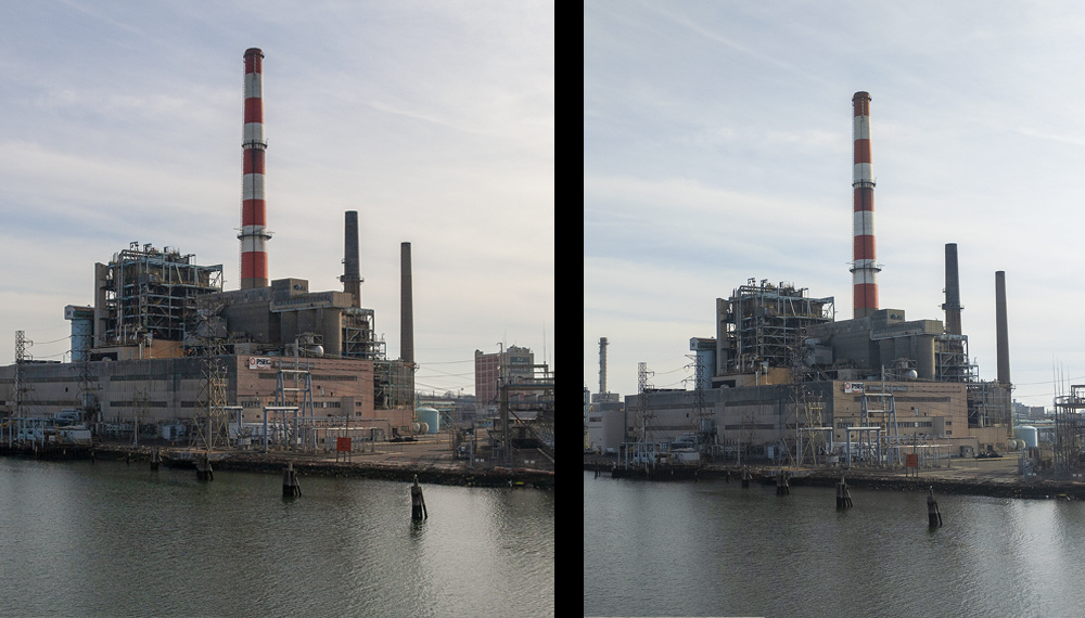 A power plant that sits on the harbor in Bridgeport, easily viewable from everywhere.