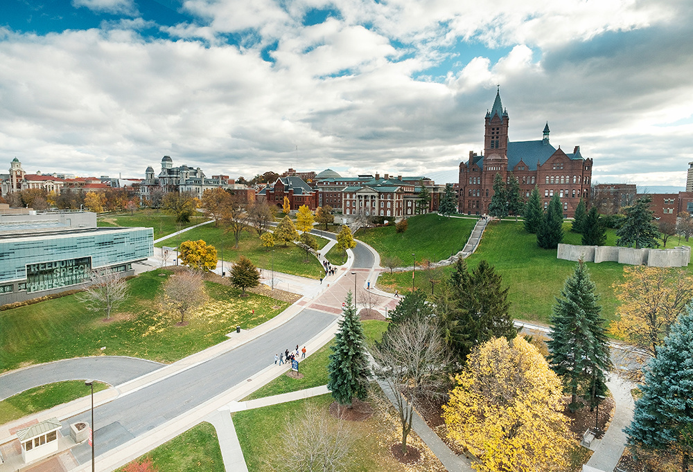 Syracuse University from a publicly accessible area that was made a little less public just for me.