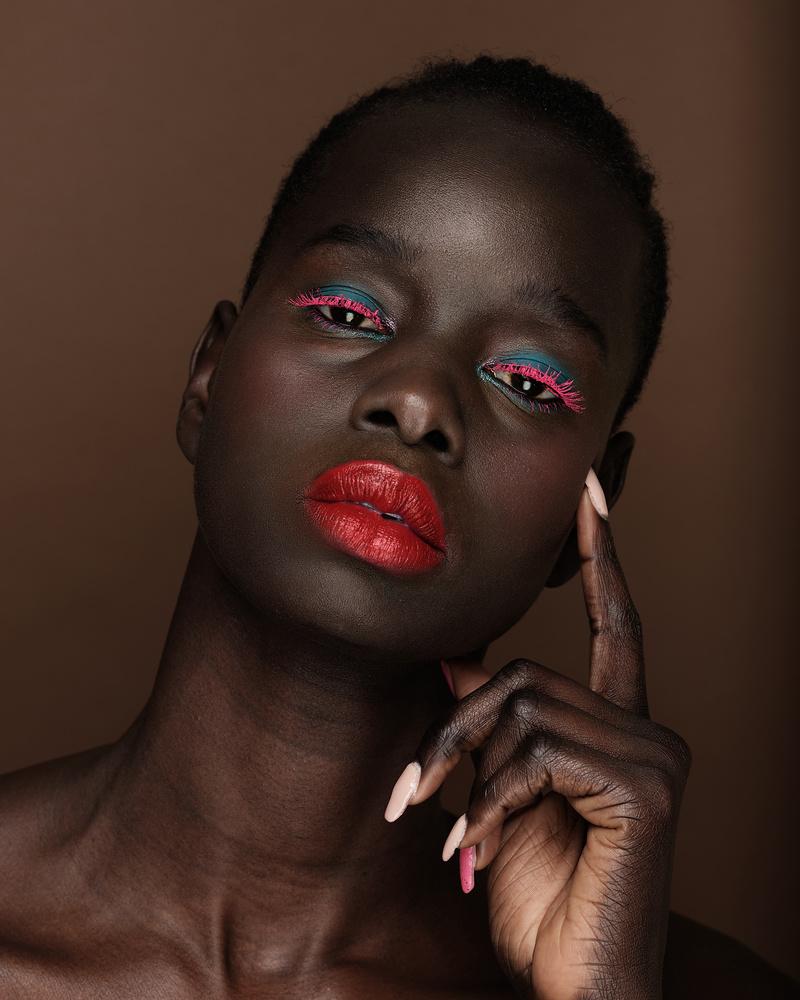 Woman, dark skin, close up, beauty, portrait