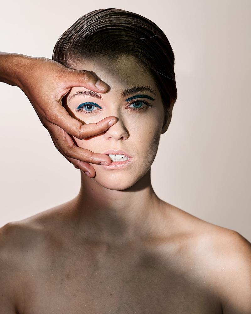 Closeup, beauty, woman, editorial