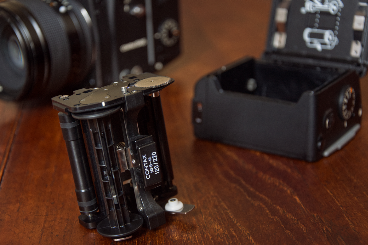 Contax 645 Film Insert and Back