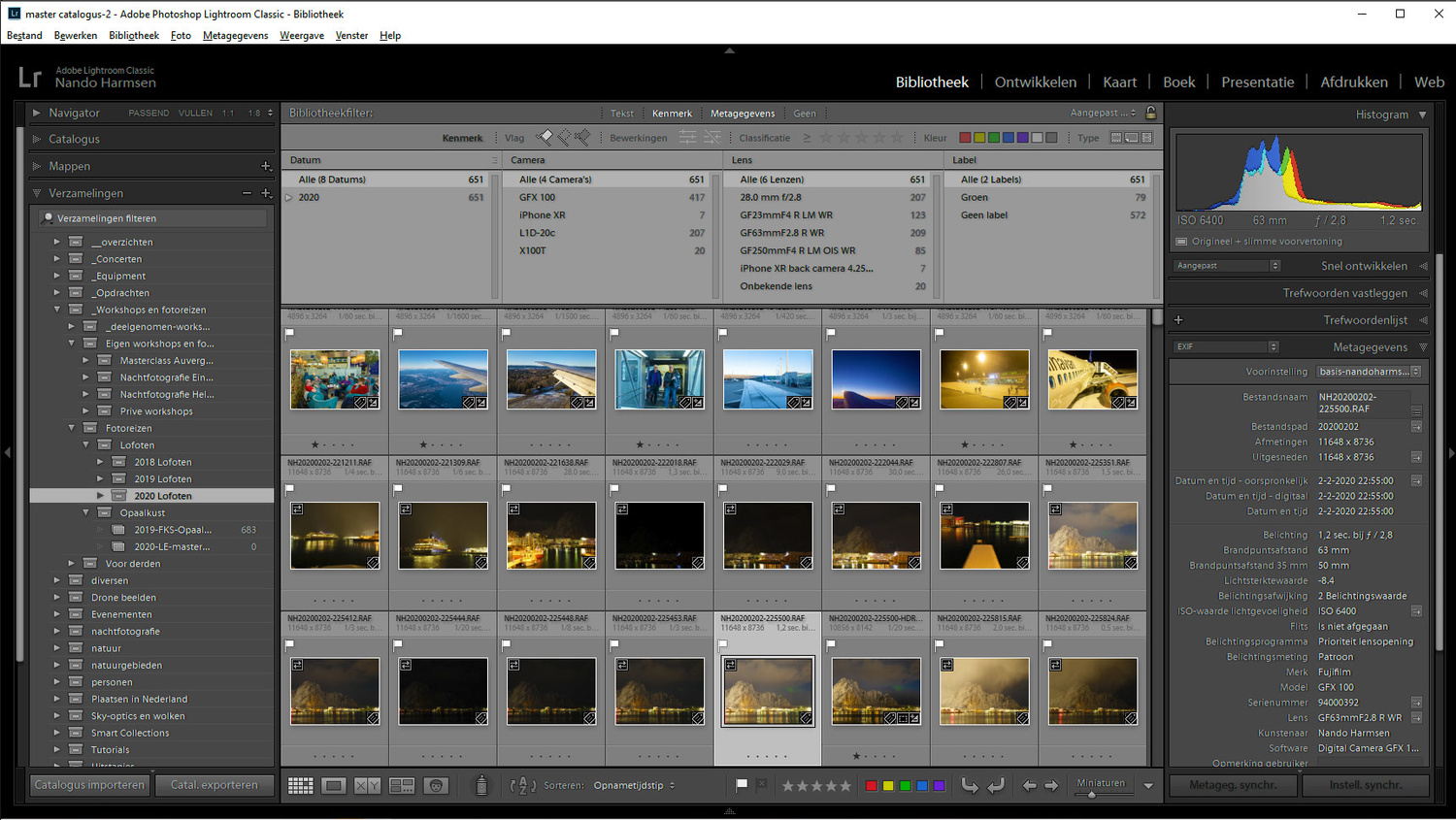 Searching a library of images is very easy in Lightroom. Also ordering images in different collections is possible. The system is much more extensive and flexible compared to Luminar.