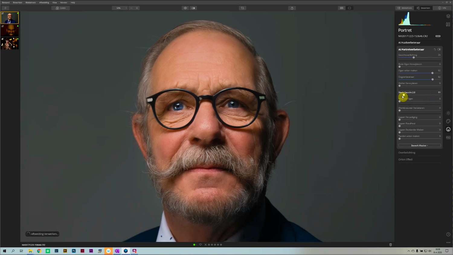 With AI Portrait Enhancement, it is easy to post-process a portrait. With just a few sliders it is possible to get a wonderful result.