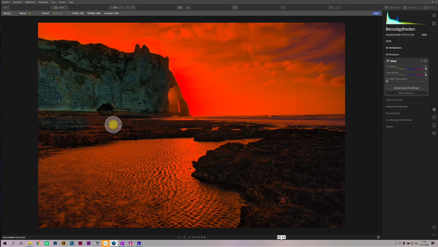 Luminar allows you to perform complex post-processing, with masks like this luminosity mask, and layers.