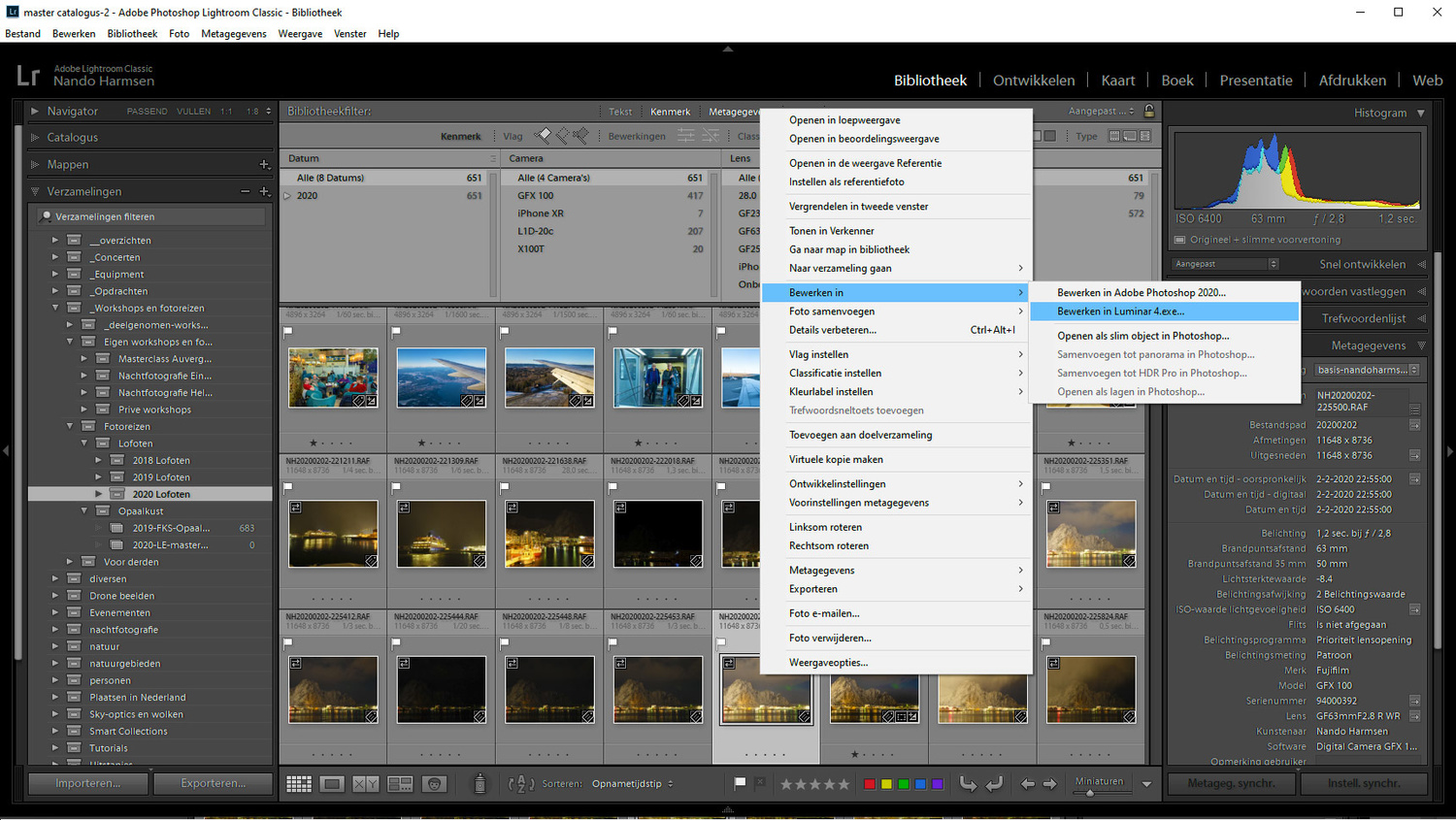 Just use both Luminar and Lightroom. Use the library function of Lightroom, perform simple post-processing, and use Luminar as a plugin to make use of the Artificial Intelligence.