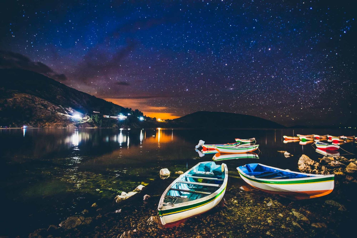 Light-painted rowboats on the Isla del Sol in Lake Titicaca, Bolivia, 2014. After shooting a wedding just after the new year, I spent four weeks traveling, my first intentionally solo trip.