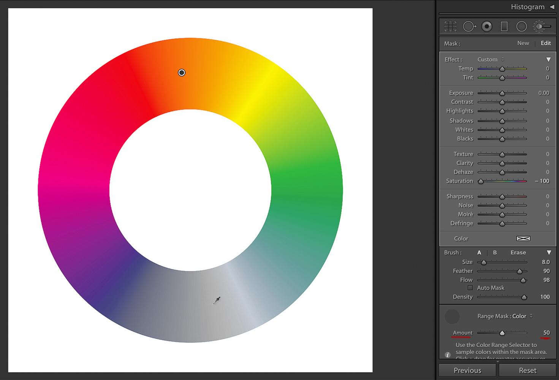 Color Wheel, Amount 50%