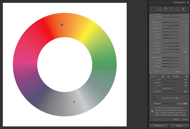 Color Wheel, Amount 100%