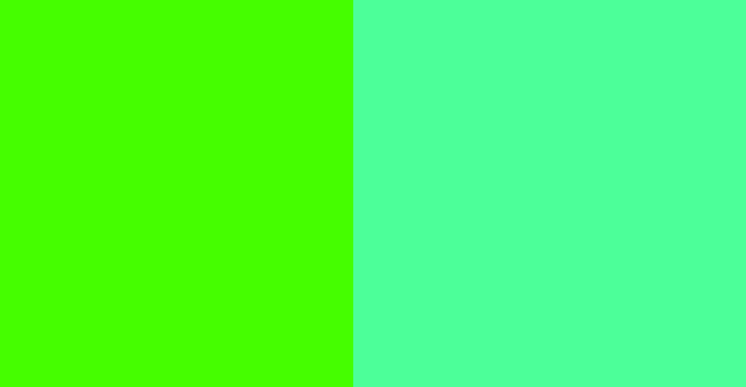 Two shades of green