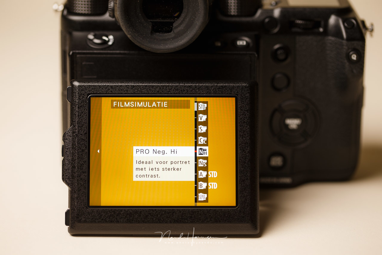 The film silulations that are available on the Fujifilm cameras simulate old analog films. This is the list of choices that can be found on the Fujifilm GFX-50s