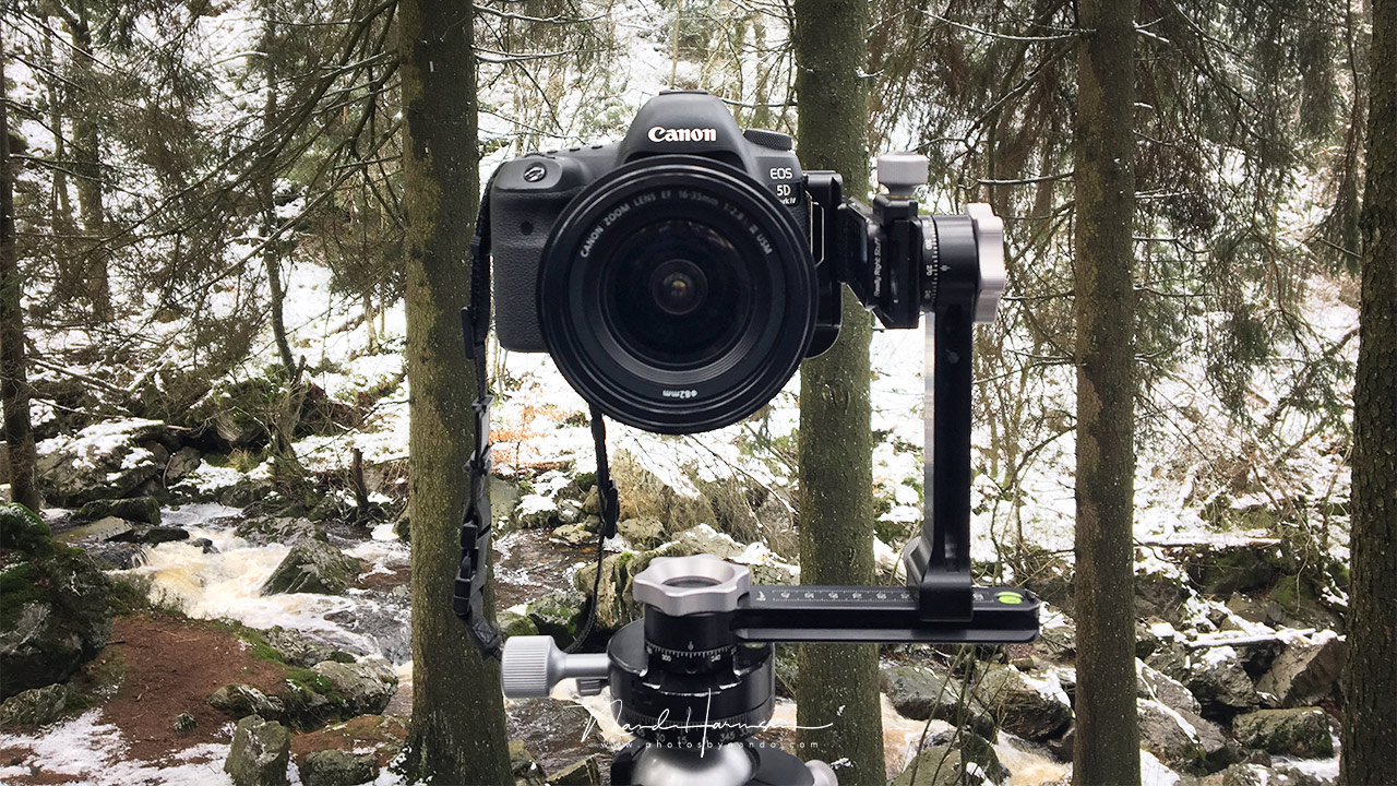 One step further. The Really Right Stuff PG-01 Compact Pano-Gimbal Head is a compact and light weight panorama package that can easily fit the camera bag, and can avoid parallax errors in both horizontal as vertical rotation.