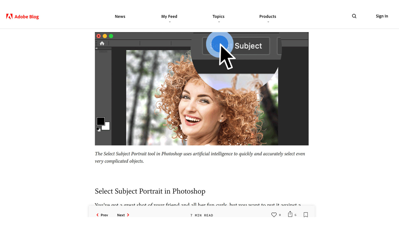 Adobe blog post screenshot of post