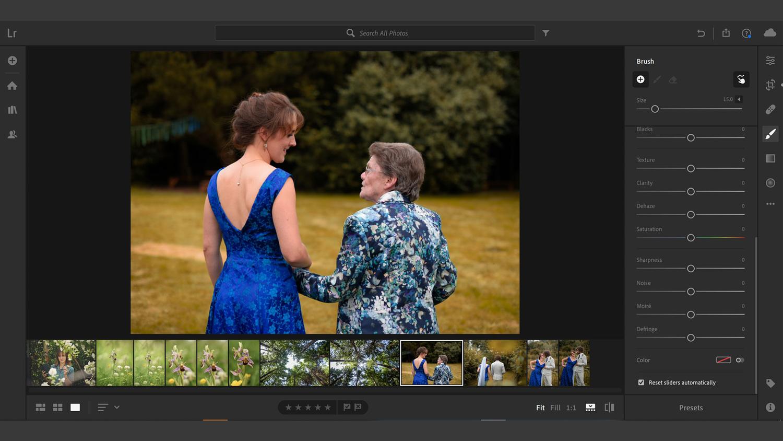 Lightroom CC local hues example screenshot