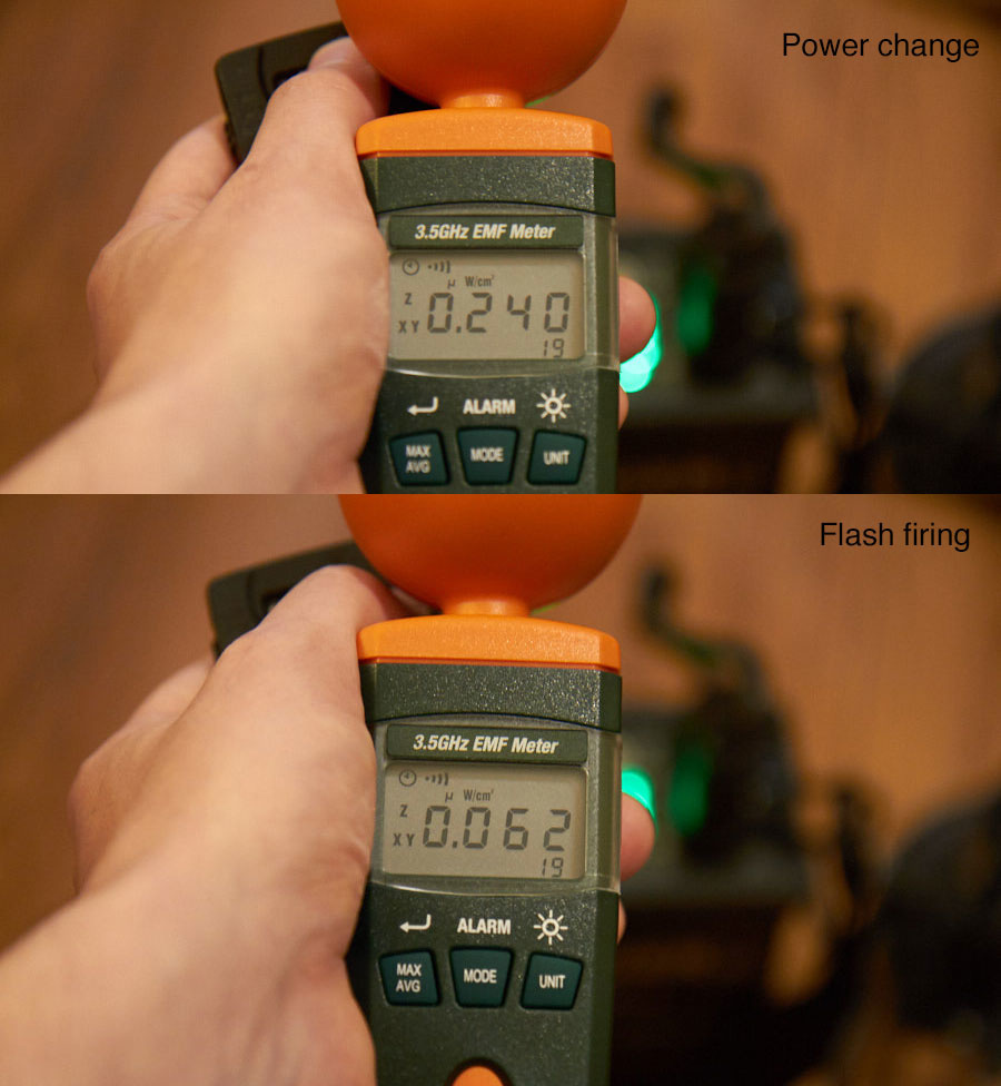 EMR measuring Elinchrom Quadra