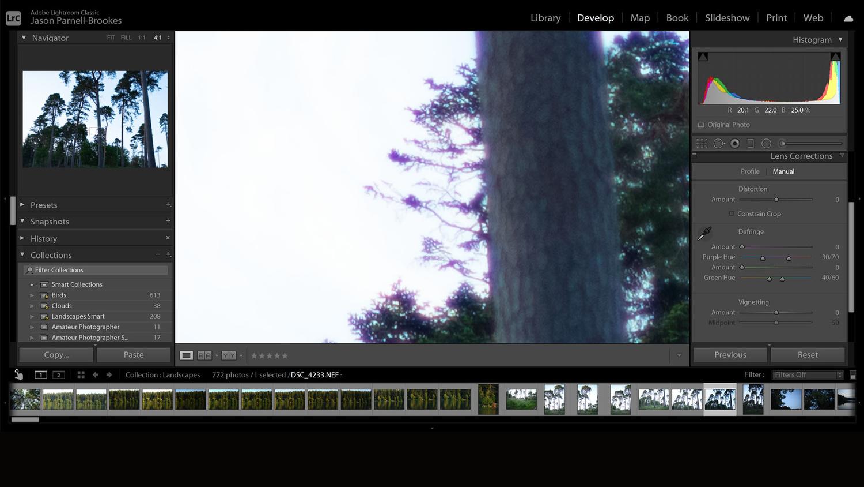 Manually select color fringes screenshot