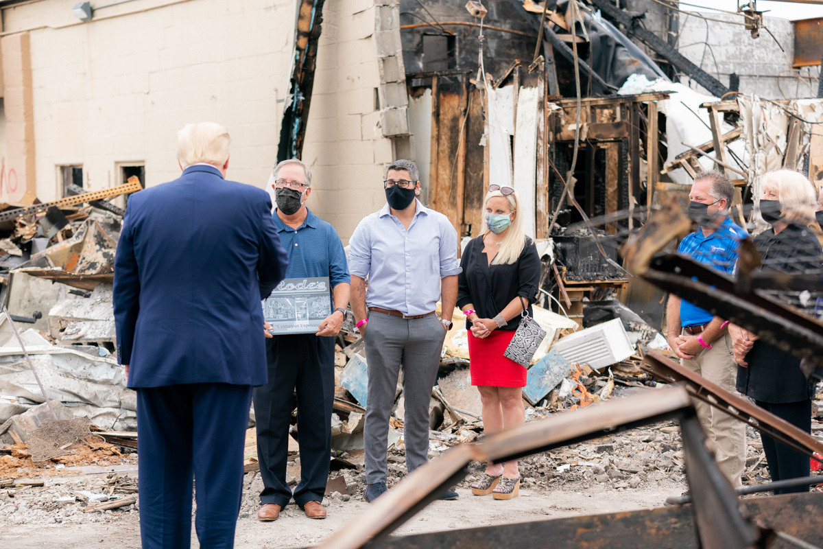 109-Year-Old Camera Store Burned Down in Jacob Blake Riots, Site Visited by Trump 3