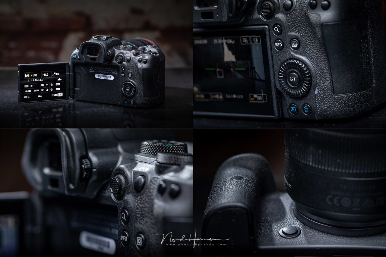 A couple of the different aspects of the Canon EOS R6.