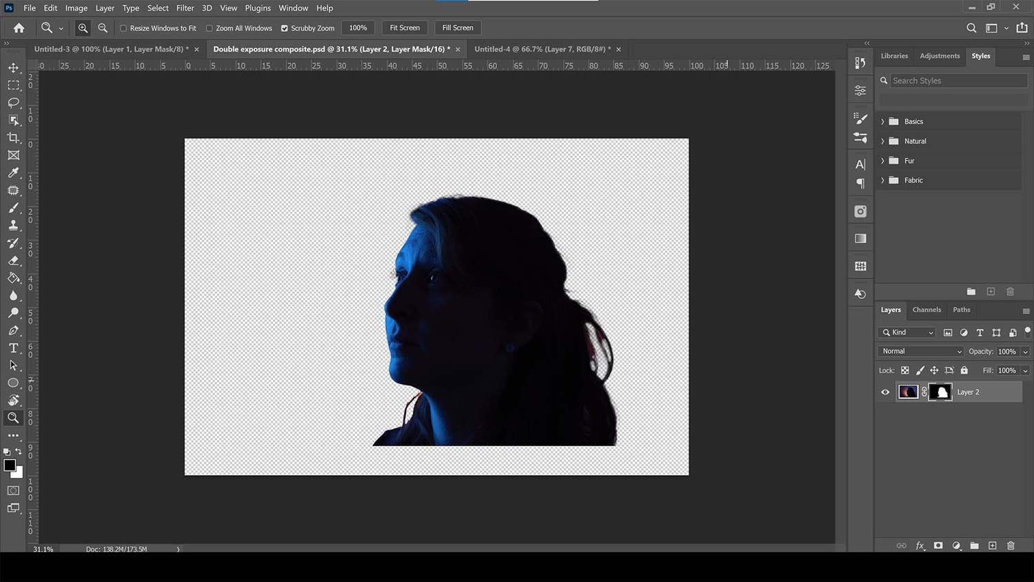 Using select subject to make a mask