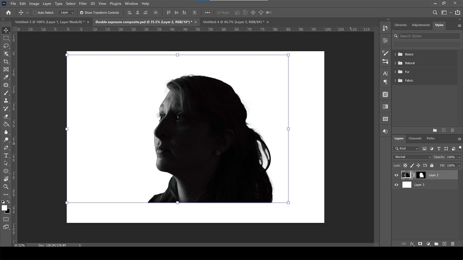 Convert to black and white in photoshop