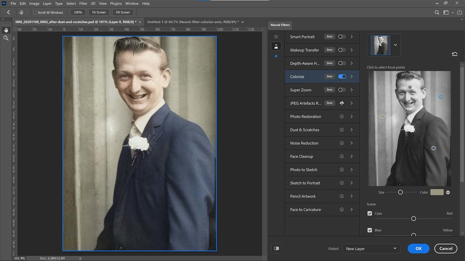 Add drop pins in the colorization filter