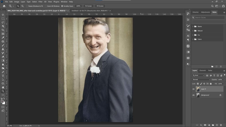 Analyze the photo in Photoshop CC