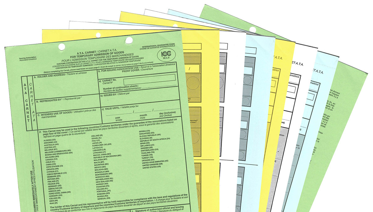 ATA Carnet documents. Photo by ATA Secretariat.