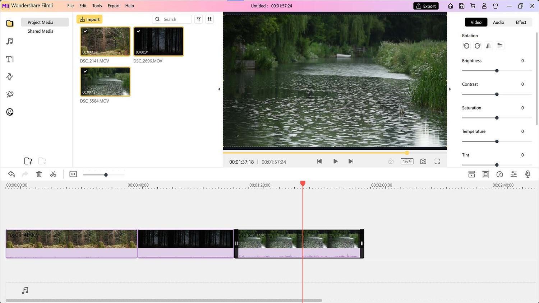 Create video from scratch in Filmii