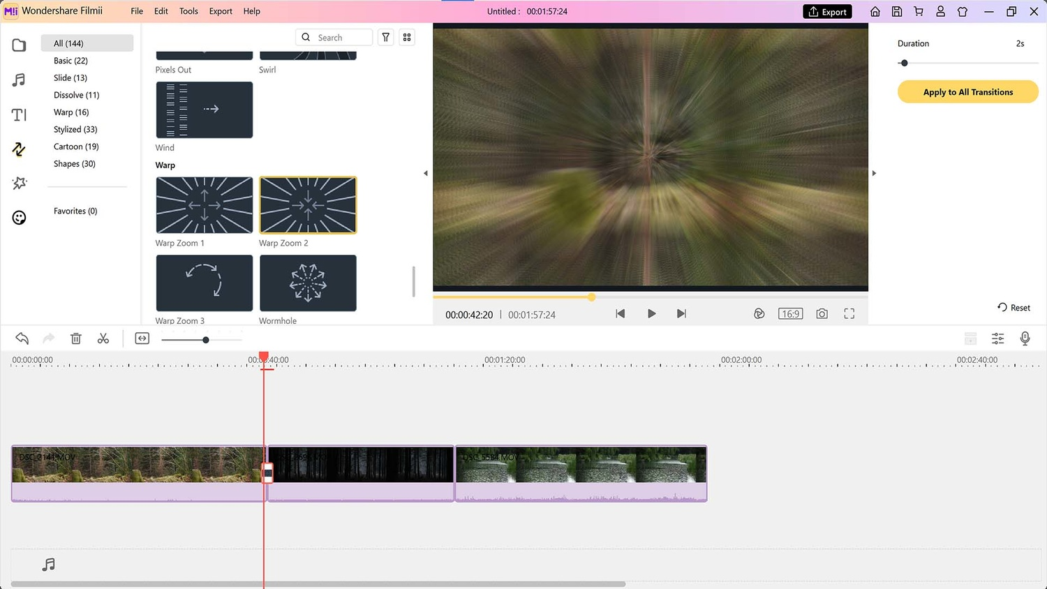 Video effects and transitions