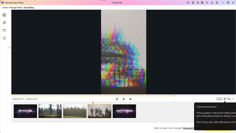 Vertical video creation