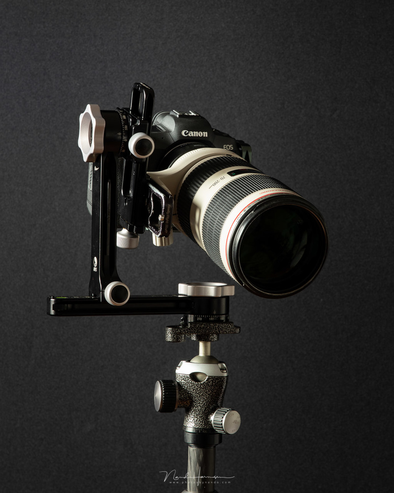 It is possible to use the RRS PG-01 Compact Pano-Gimbal Head as a gimbal.