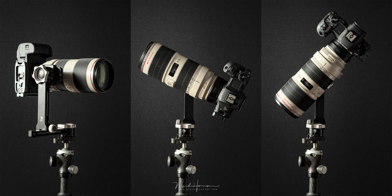 A 70-200mm f/2.8 lens can be used for multi-row panorama shooting for extreme high resolutions.