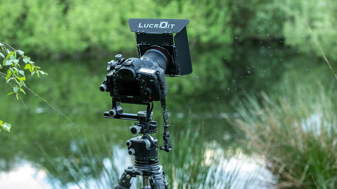 The RRS PG-01 Compact Pano-Gimbal Head in use for a vertical panorama