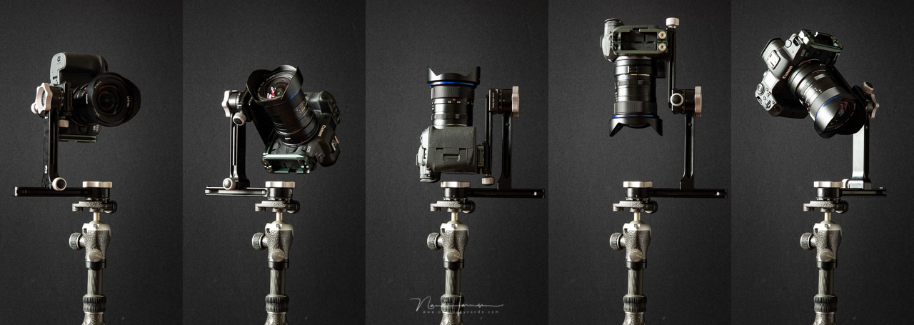 Rotate the RRS PG-01 Compact Pano-Gimbal Head in any direction, including zenith and nadir shooting.