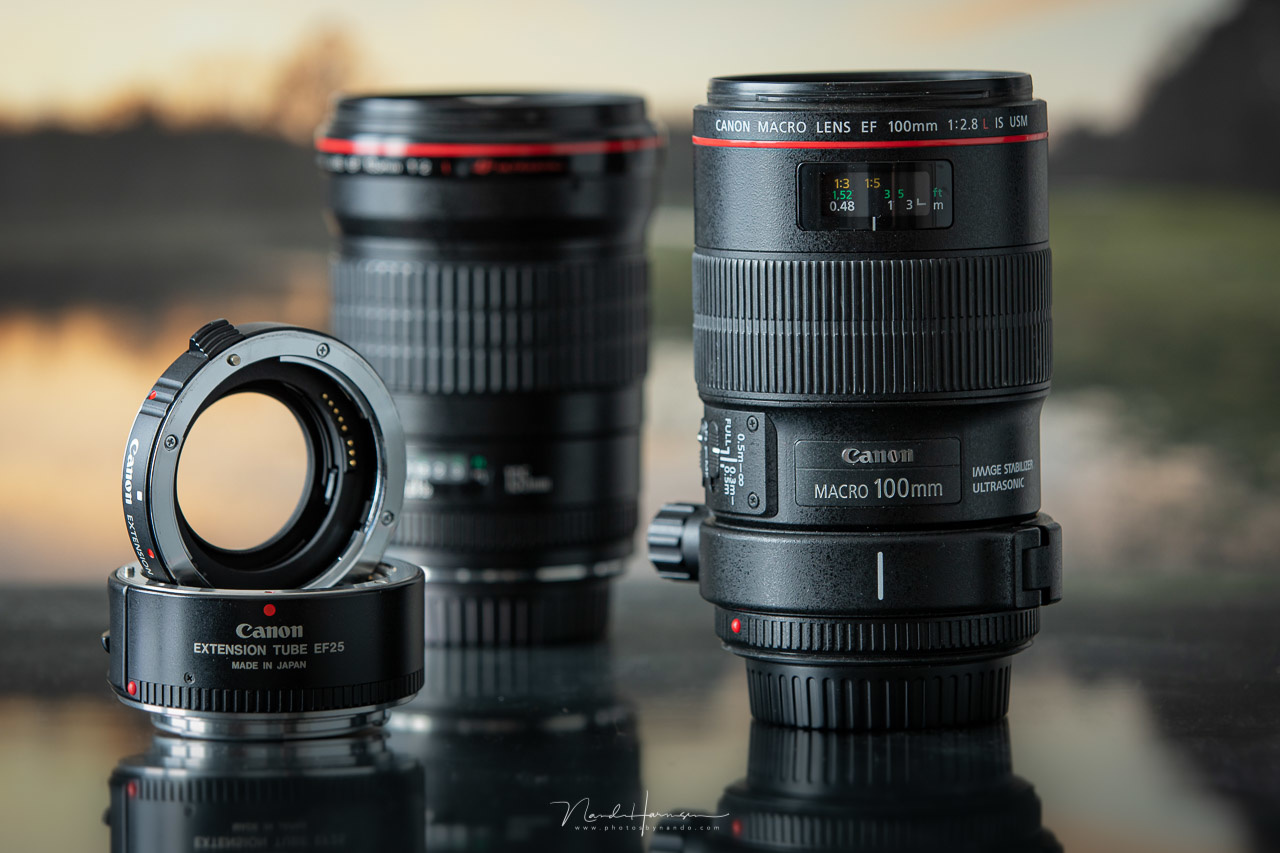 Make sure your extension tubes have contacts to ensure the communication between lens and camera.