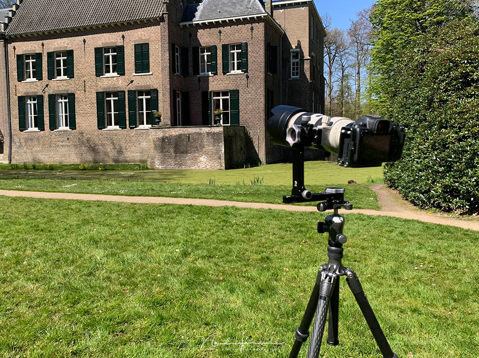 The making of the multi-row panorama. I used the RRS PG-01 pano gimbal head with a 100mm focal length on a Cano EOS R5