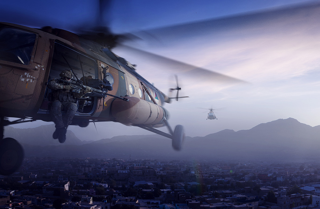 Flying in Kabul by Vegard Breie