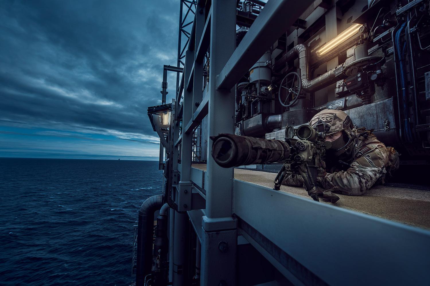 Oilrig Sniper by Vegard Breie