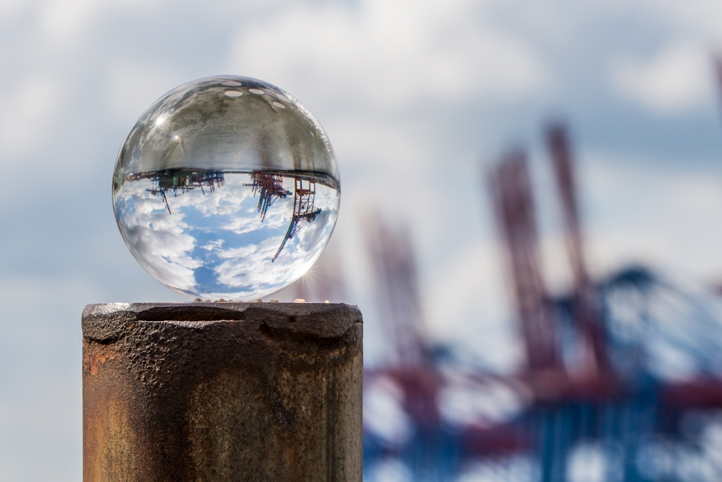 Harbour in a ball by Mo Pla