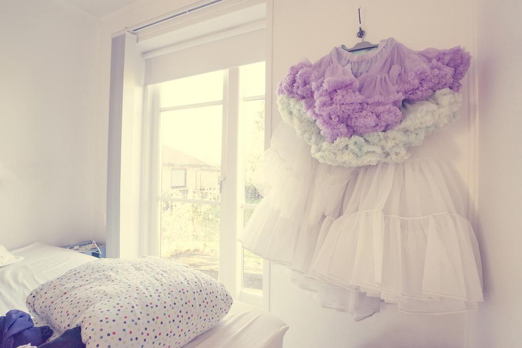 Tulle skirt in a bedroom by Kasper Nymann