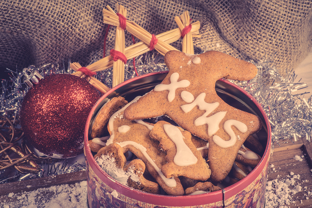 Homemade xmas cookies in a jar by Kasper Nymann