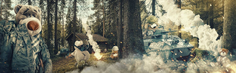 Teddy Bear War by Corey Weberling