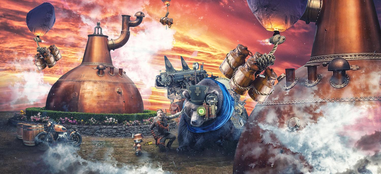 Steampunk Distillery by Corey Weberling